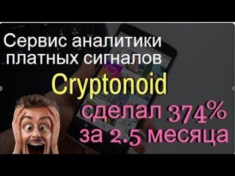 Торговля по сигналам КРИПТОНОИД 374% за 2 5 месяца