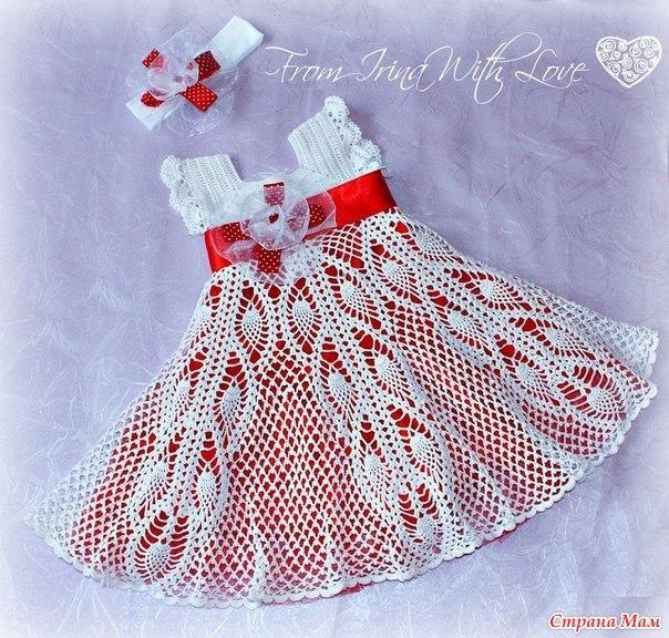 Ажурное платье для девочки (2 фото) - картинка