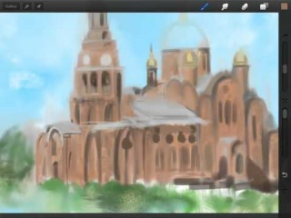 Новочебоксарск - мой родной город (Drawing my Homeland on the iPad using Procreate)