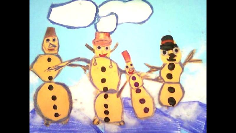 НОВОГОДНИЙ ЭТЮД Снеговички мультипликаторы 1 классы Детская студия анимации Мультифокус -