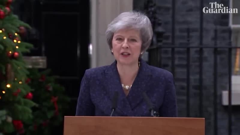 Theresa May's speech after winning no confidence vote
