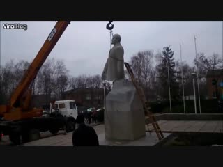Снос памятника Ленину