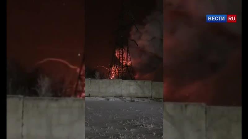 в Красноярске сгорел склад отработанных аккумуляторов