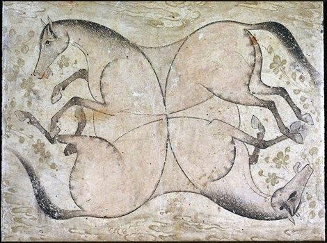 Рисунок «Четыре лошади»