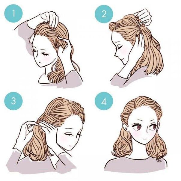 Причёски, которые легко сделать дома (7 фото)