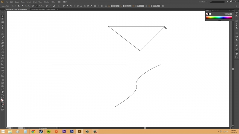Adobe Illustrator CS6 for Beginners Tutorial 20 Understanding Paths