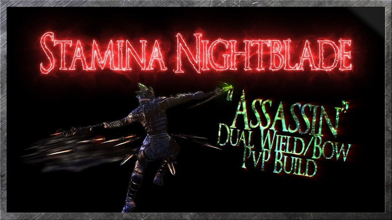 ESO - Stamina Nightblade Assassin PvP Build (DW/Bow) [Wolfhunter]