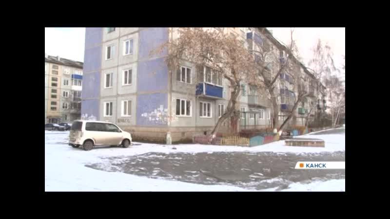 Жители Канска жалуются на огромные лужи и глубокие снежные колеи