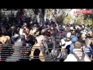 Акция националистов ОУН под памятником Ватутину в Киеве 14.10.2018