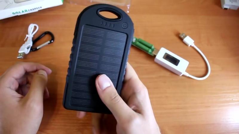 Солнечный power bank на 2 USB 5000 mAh солнечная батарея Solar power bank ОБЗ