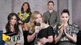 Pretty Little Liars The Perfectionists Cast on Who Theyre Shipping &amp #Emison Dive In