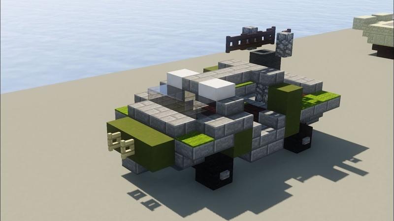 Minecraft Halo Warthog M12 LRV UNSC Tutorial
