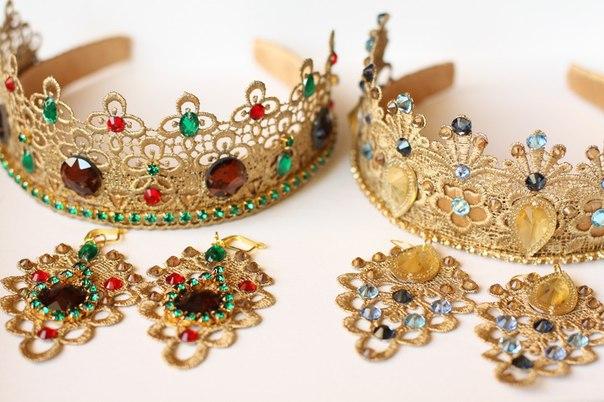 Ободок корона своими руками