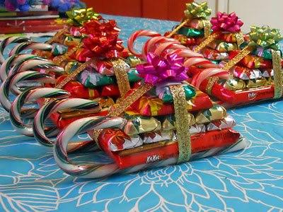 Новогодний подарок из конфет своими руками