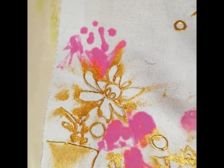Alecia Fox Art \Alice Man the process. flowers