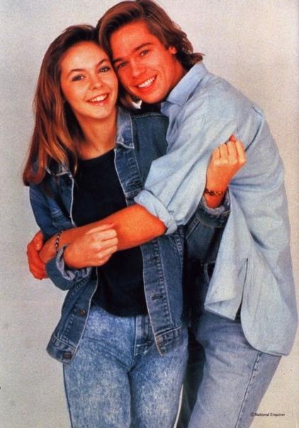 Подборка фотографий с молодыми Брэдом Питтом и Шэлейн МакКолл.