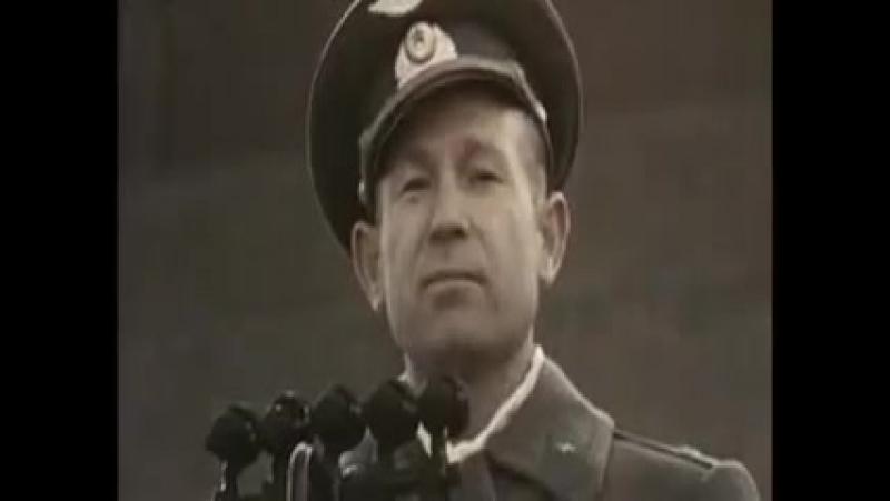 Выступление Алексея Леонова 23 марта 1965 года