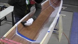 Bau eines Holzkajaks. Lektion 10 Cockpit mit Glas verst