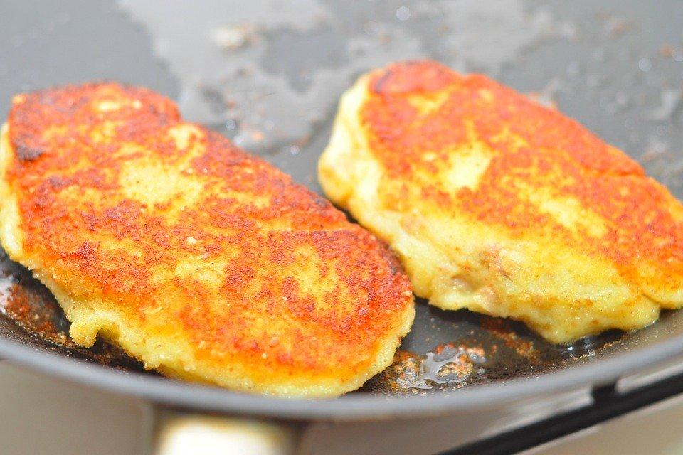 Картофельные зразы Ингредиенты: Мясной фарш — 500 г Картофель —