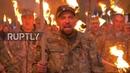 Ukraine Torchlit procession marks 'Defender of Ukraine Day'