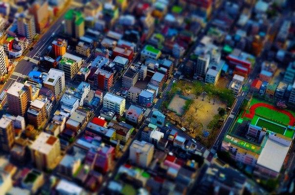 Токио с телевизионной башни Tokyo Skytree в районе Сумида, Токио.