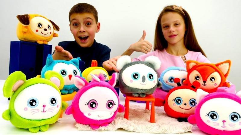 Сквиши. Игрушки антистресс Squishimals. Обзор игрушек