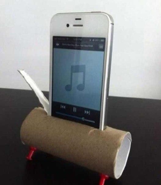 Подставка под телефон + усилитель звука)