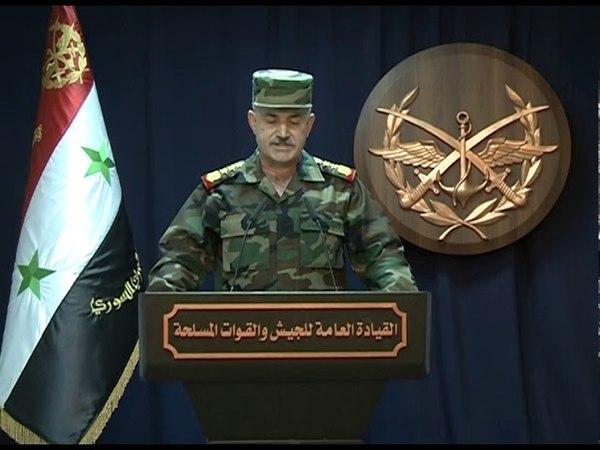 بيان القيادة العامة للجيش حول تطهير منطقة 1