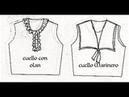 DIBUJO DE CUELLOS ropa para figurin de moda