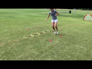 Footwork patterns and agility training for soccer players