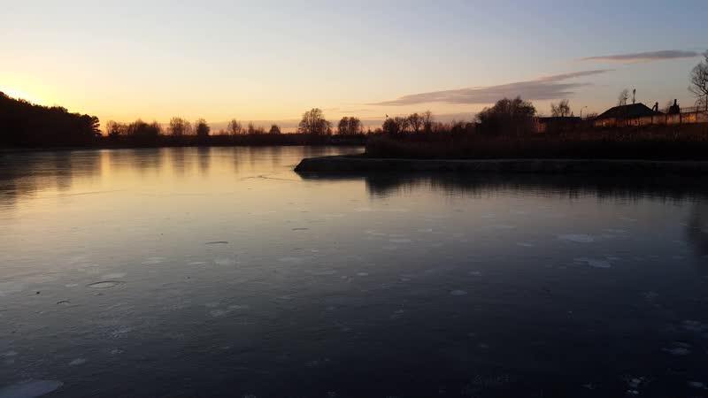 Закат на озере Гидра г.Раменское г.Жуковский