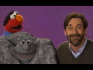 Sesame Street: Jon Hamm and Elmo -- Sculpture