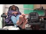 53 year old mature ebony woman candid soles