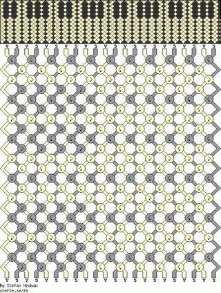 Схемы фенечек косого плетения.