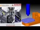 CKD learn - SolidCAM 5axis first step - Create machine ID, simulator, toolpath