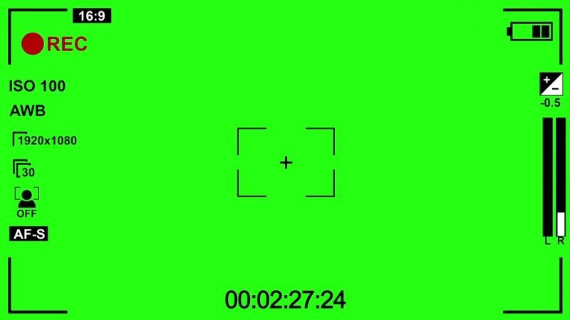 Запись с камеры REC (Футажи) (Хромакей) [Вставка для монтажа] 12