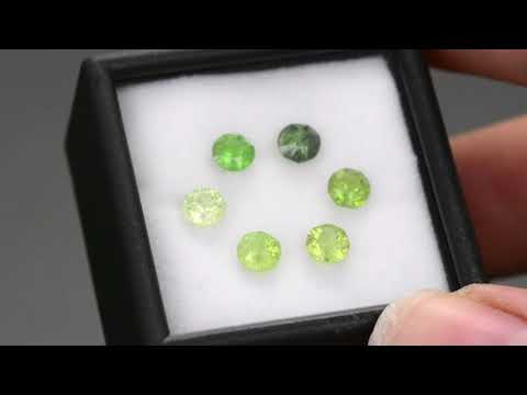 Vivid Green Tanzanian Grossular Garnet Gemstone Set from KGC