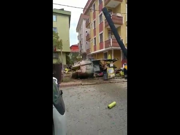 İstanbul Sancaktepede helikopter düştü 4 şehit
