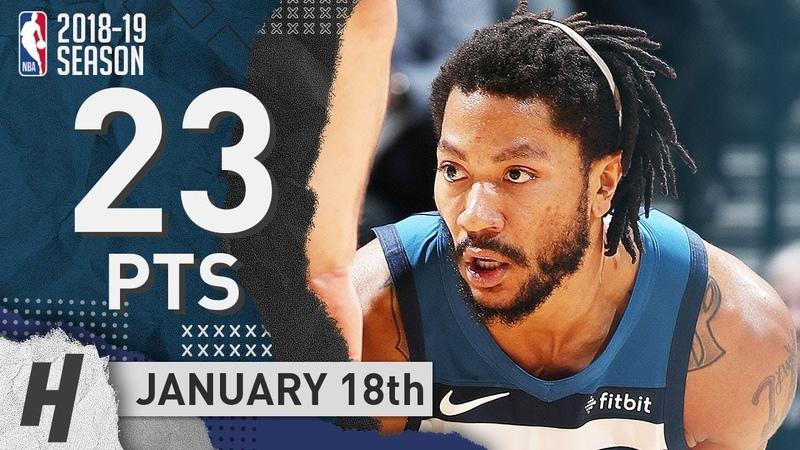 Derrick Rose Full Highlights Timberwolves vs Spurs 2019.01.18 - 23 Pts, 6 Ast, 3 Rebounds!