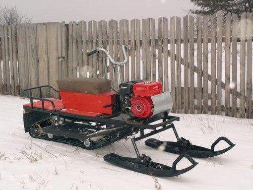 Самодельный снегоход с гусеницей от бурана