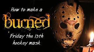 How to Make a Burned Jason Mask - Friday the 13th DIY Tutorial.