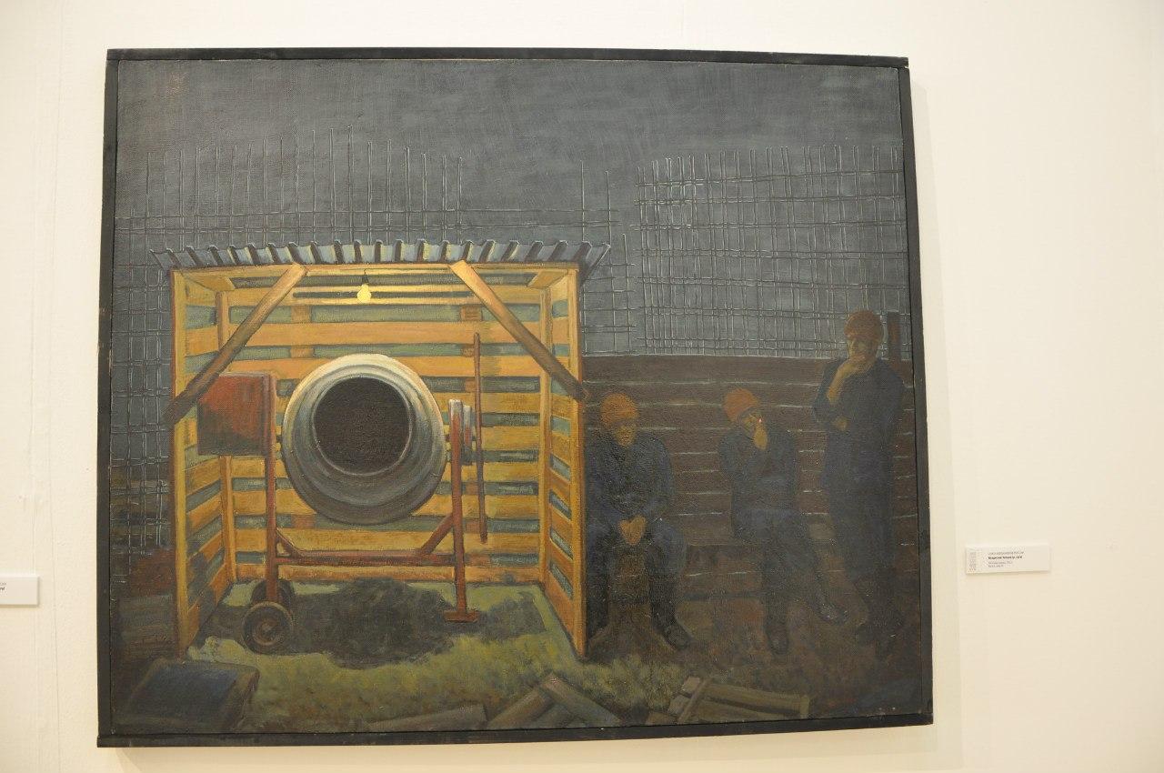 Союз художников России  Владислав Чинцов (р. 1979)  Ночная смена. 2011  Холст, масло