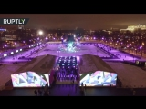 С высоты птичьего полёта: каток в московском Парке Горького