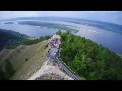 Национальный парк «Самарская Лука», облёт смотровой площадки на горе «Стрельная»