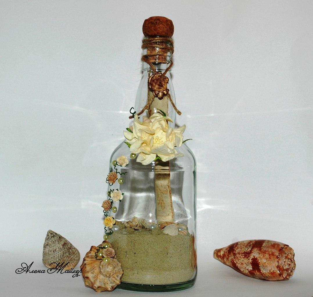 Идеи как упаковать бутылку в подарок - Handmade Idea 6