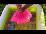JOHNY JOHNY Yes Papa Song NURSERY RHYMES Learn Colors With Water Balloons.mp4