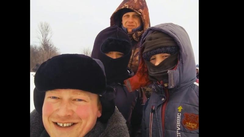 Первая рыбалка 2019 года. Река Чепца. Сильный ветер. Заморозили сопли.