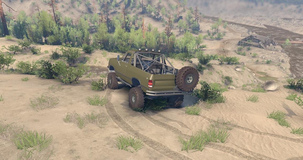 SID 91 Dodge Ramcharger Open Top v1.1 для Spintires - Скриншот 1