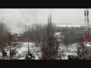Гигантский столб дыма над Ярославлем
