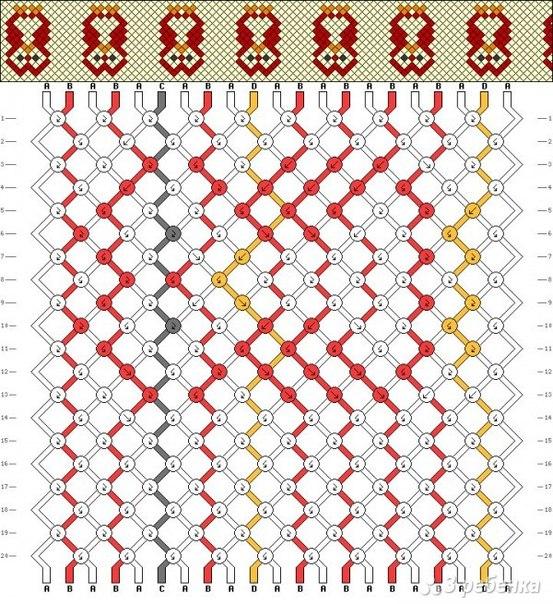Схема фенечки с совой.